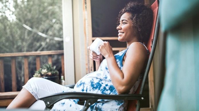 A beautiful African American woman in
