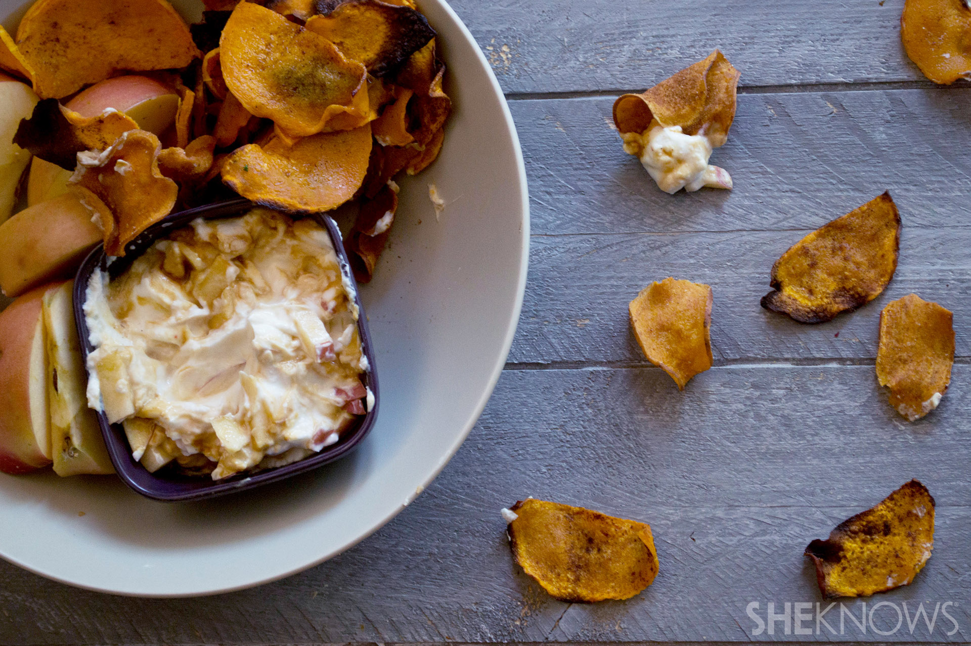 Whip up a batch of healthy vegetable chips to snack on