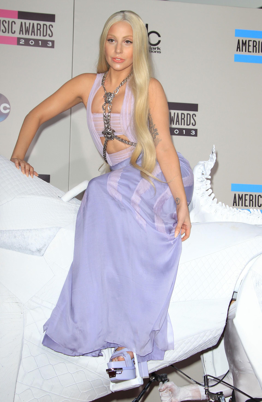 Lady Gaga on horseback