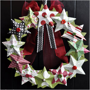 3d paper star wreath | Sheknows.ca