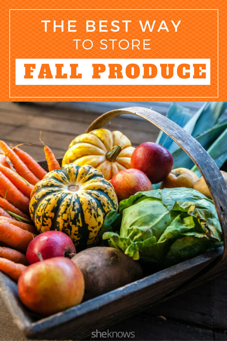 how to store fall produce