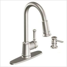 Moen Lindley single-handle kitchen faucet