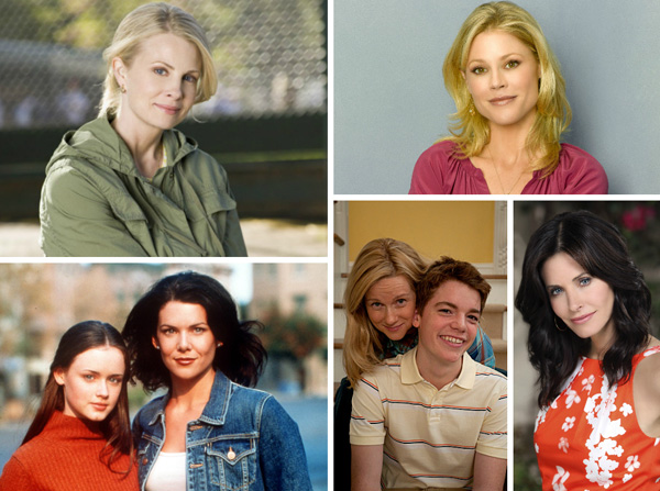 Collage from The Big C, Modern Family, Parenthood, Cougar Town and Gilmore Girls