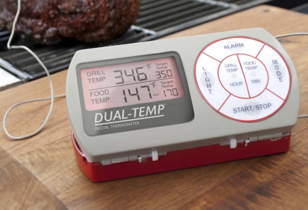 Dual temp heat and alarm thermometer