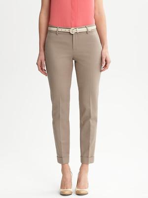 Cuffed, cropped pants