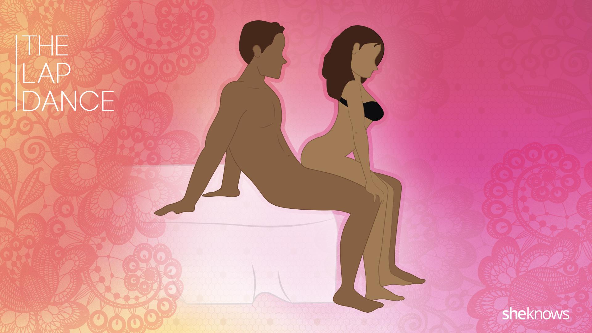 Lap dance sex position