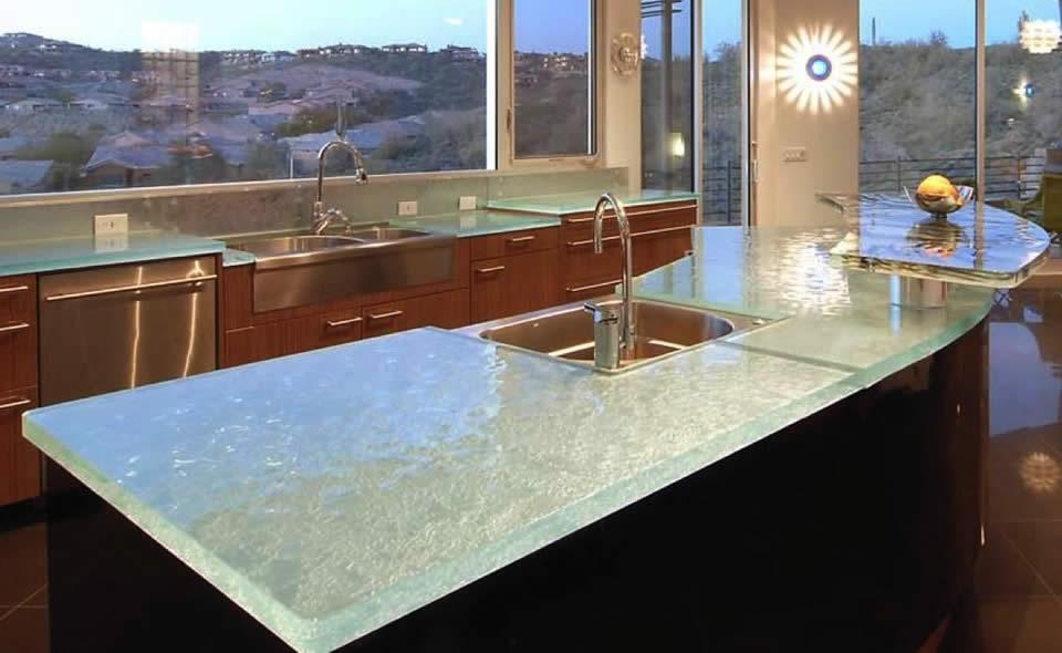 Glass countertop
