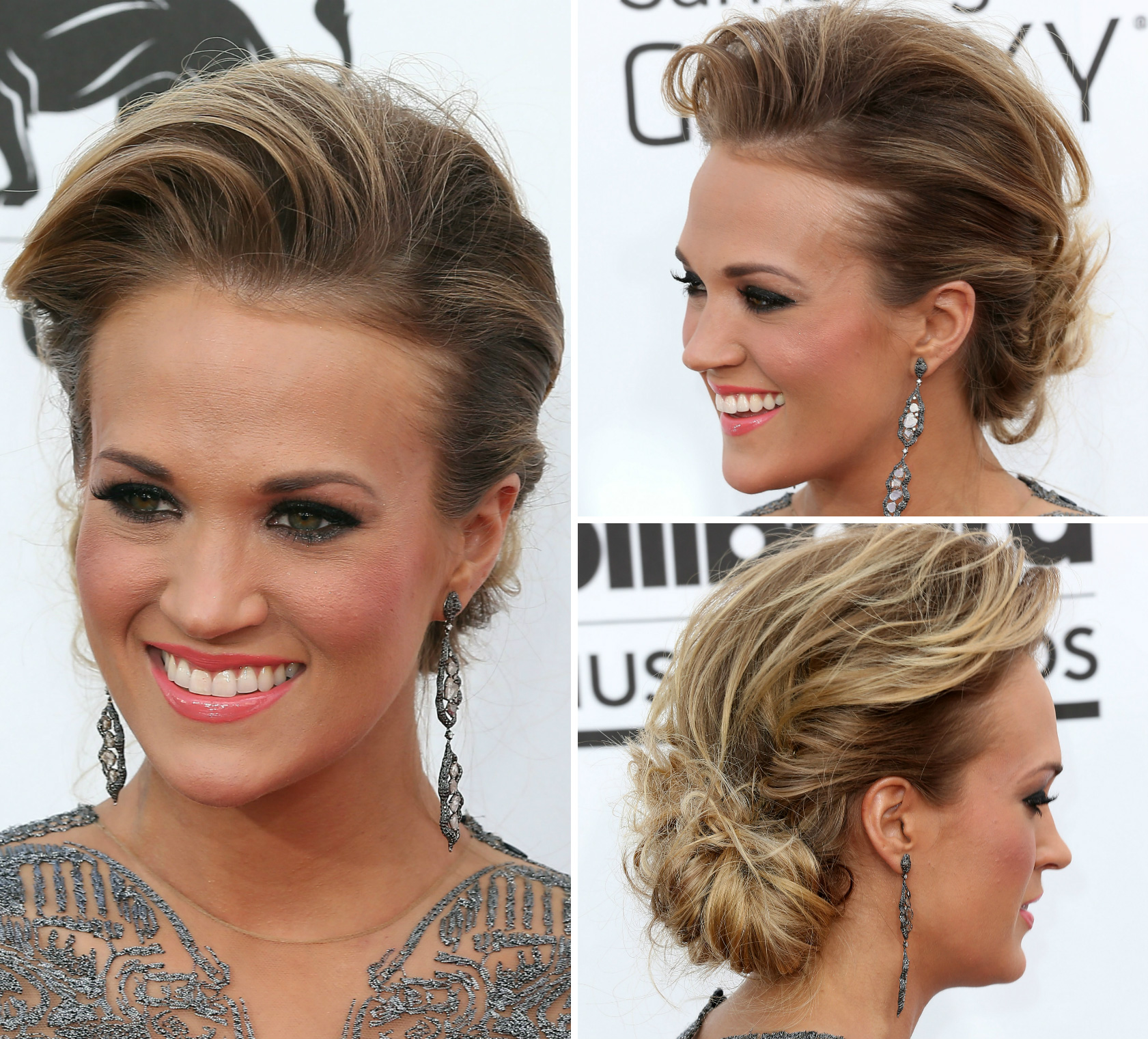 Carrie Underwood with a Glam bun