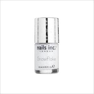 Snowflake nail polish