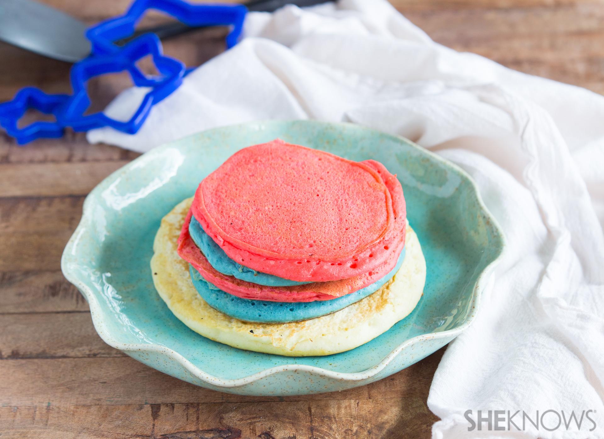 Star pancake skewers