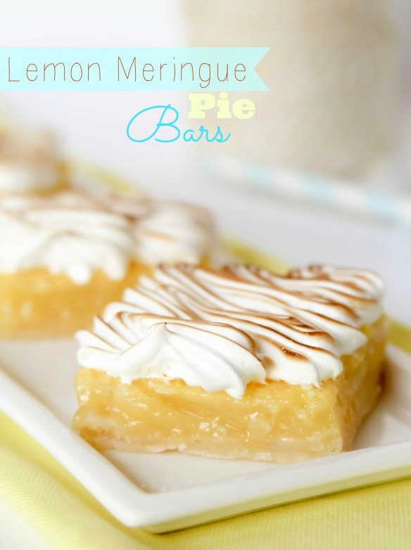 Lemon meringue pie bars recipe