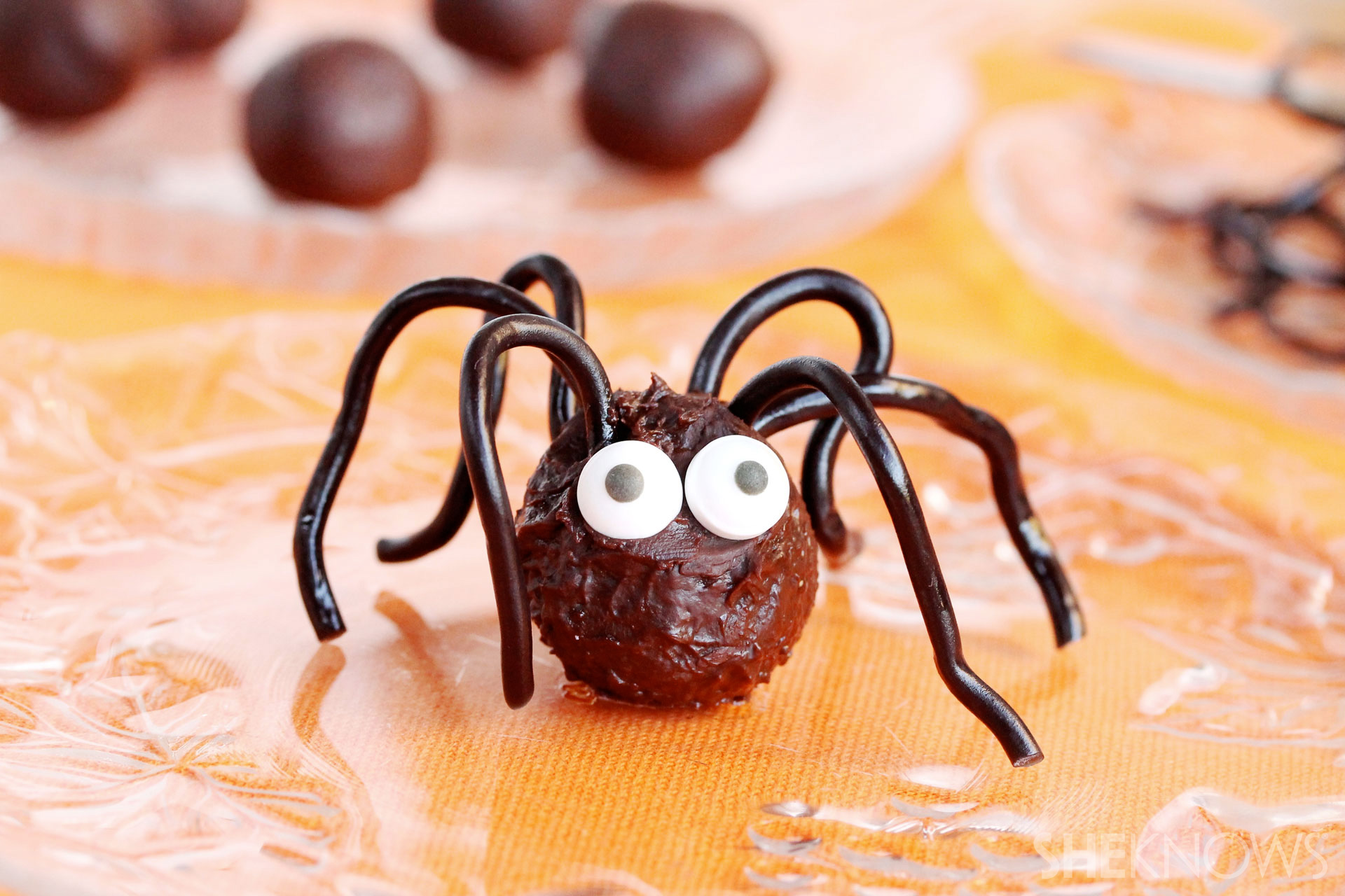 Chocolate truffle spiders recipe