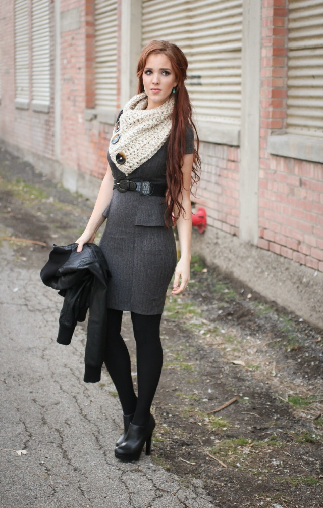scarf with leggings
