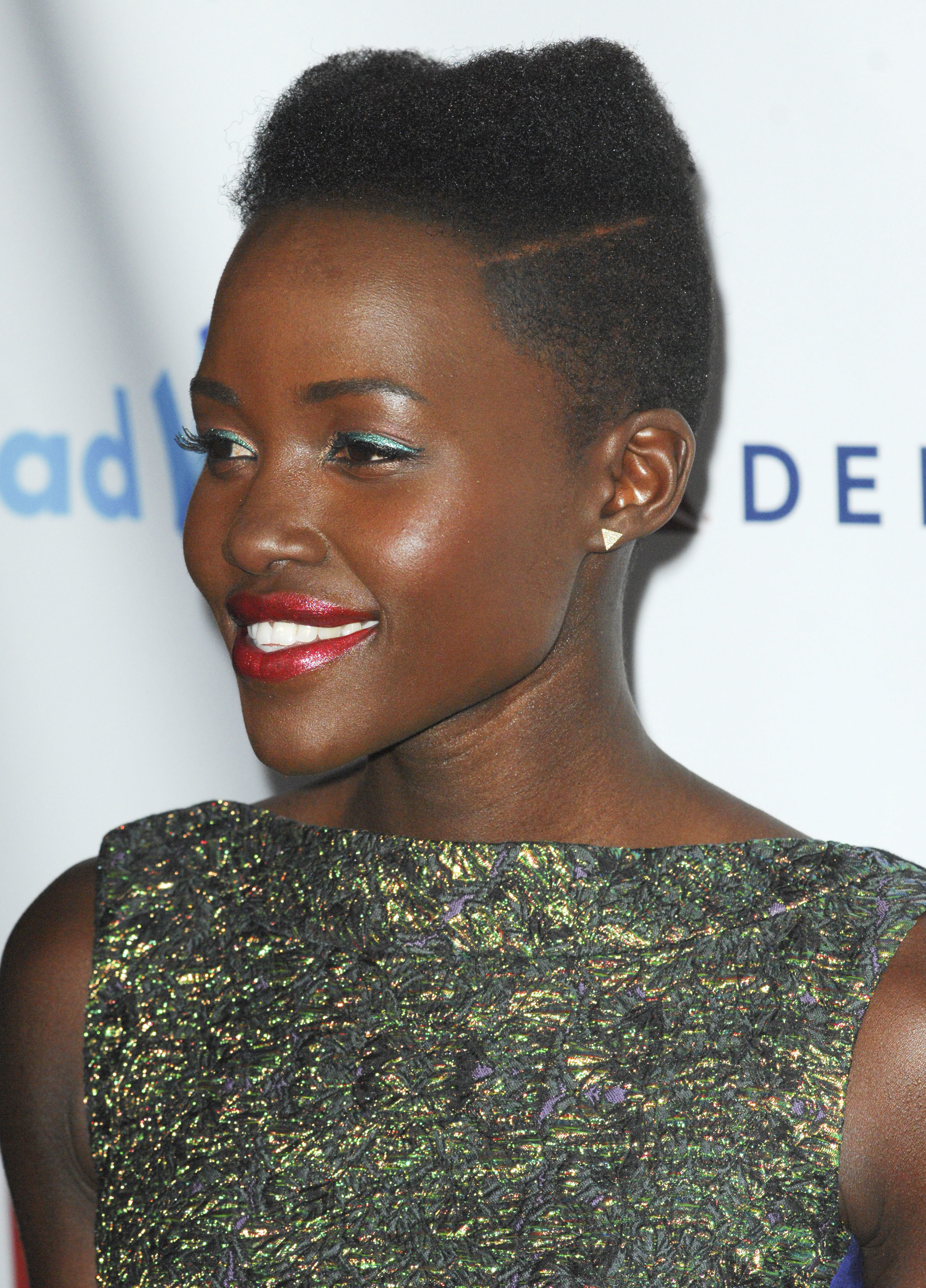 Lupita Nyongo with natural hair