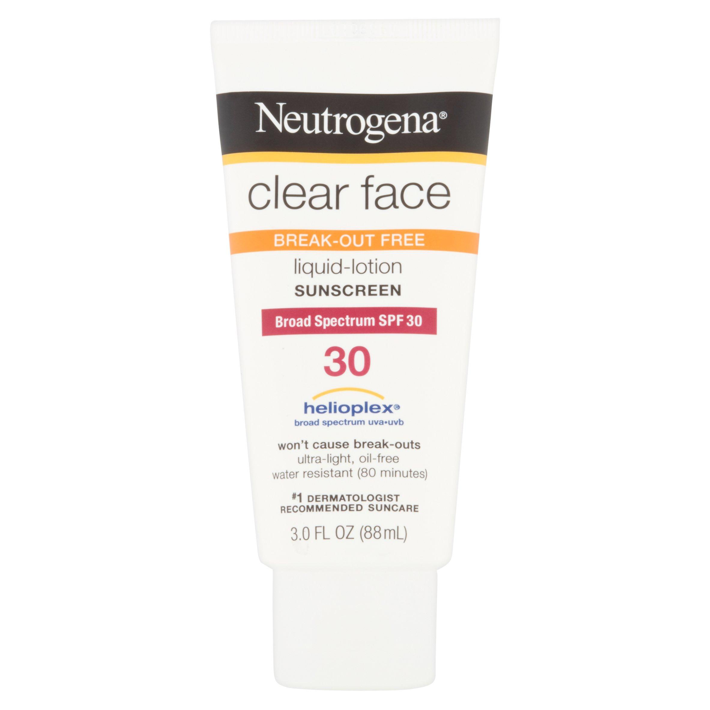 Neutrogena Clear Face Liquid-Lotion Sunscreen Broad Spectrum SPF 30