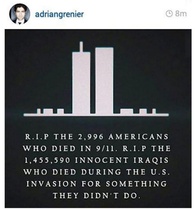 Adrian Grenier posts controversial 9/11 post