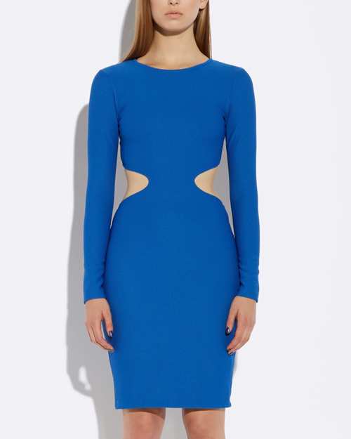 Aliana Blue Backless Mini Dress in Blue