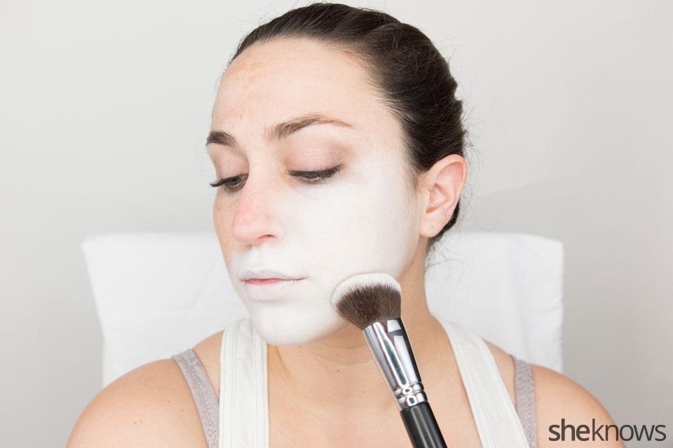 American Horror Story Halloween makeup: Step 1