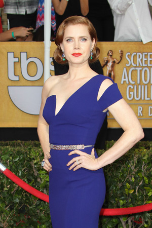 Amy Adams' Royal Blue Antonio Berardi Dress