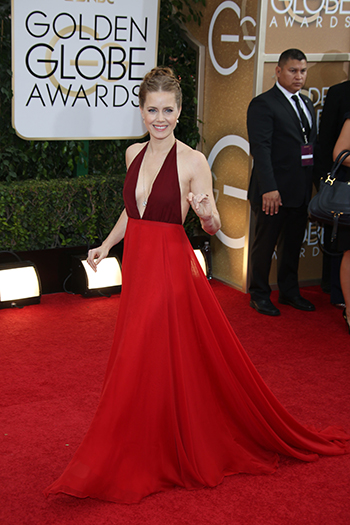 Amy Adams red Valentino Golden Globes gown