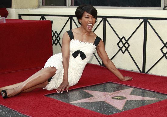Soon after joining the cast of ER, Bassett got her Hollywood Star