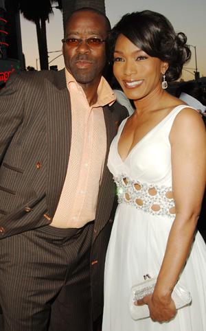 Angela with husband and costar Courtney Vance