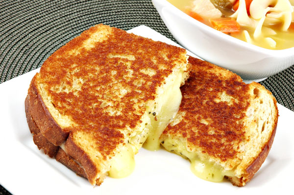Apple-butter grilled cheese sandwiches