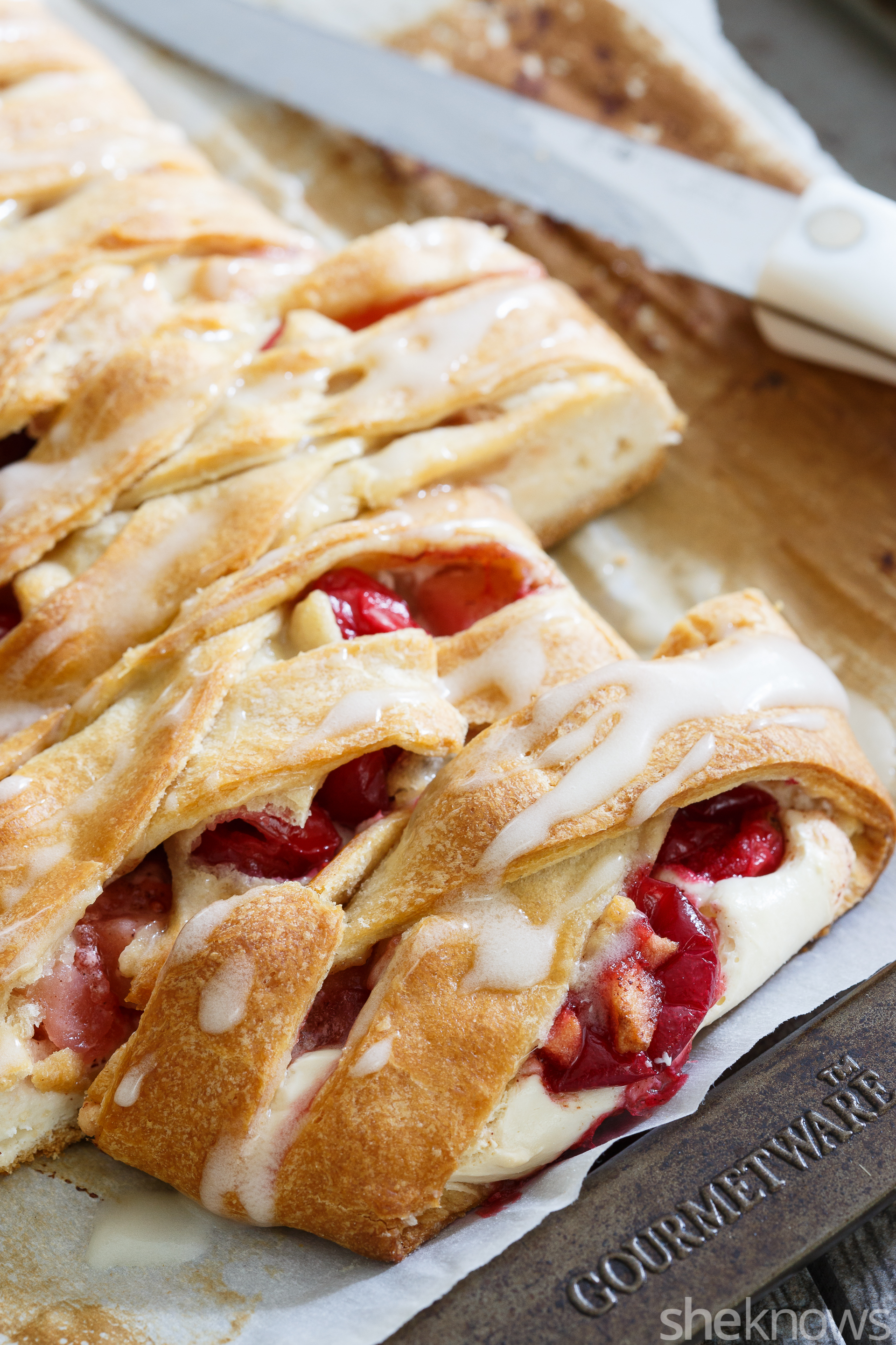 apple cranberry cream cheese danish loaf
