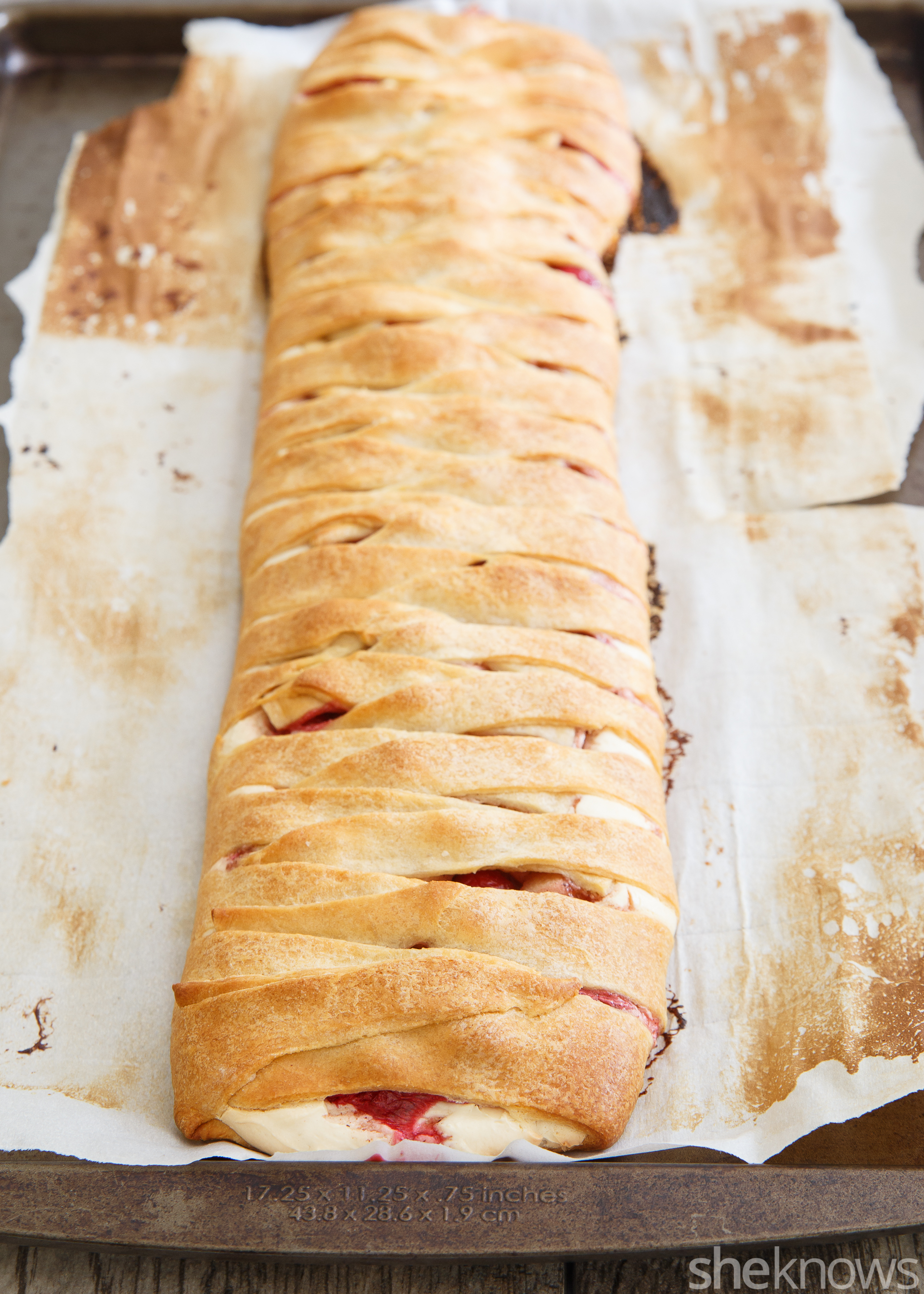 apple cranberry cream cheese danish loaf baked