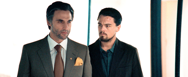 Mark Strong and Leo take a walk in Body of Lies