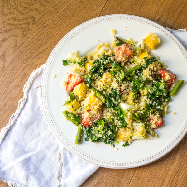 Baby bok choy couscous