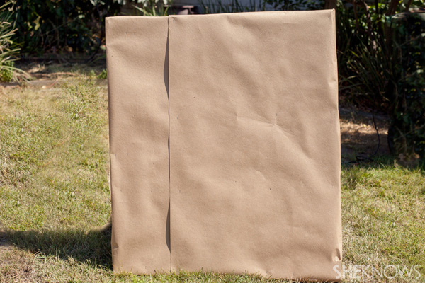Covered back of pallet