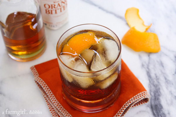 Bacon bourbon Old-Fashioned
