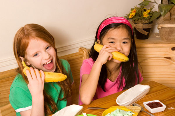 Kids on banana phones
