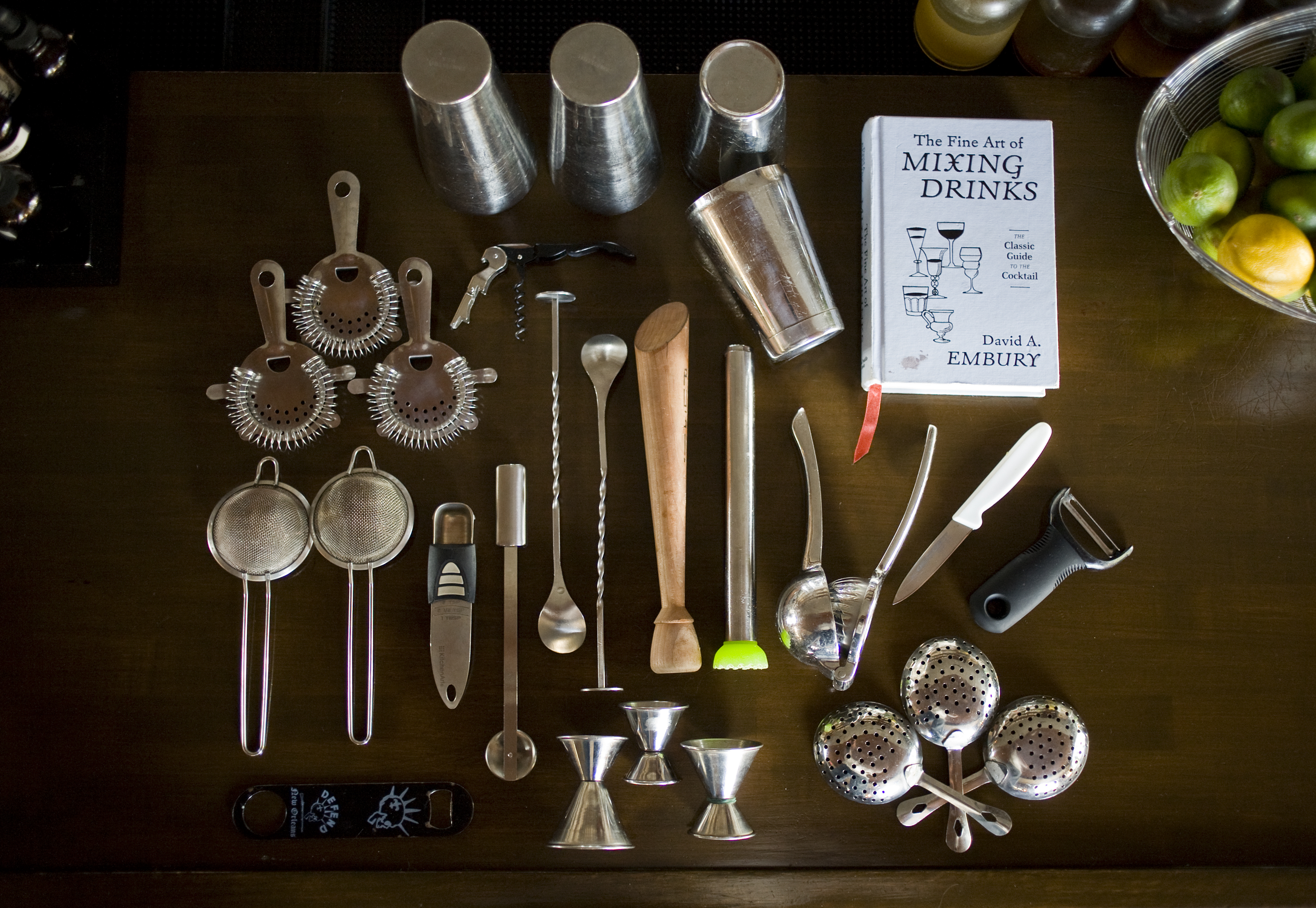 Be sure to have the right tools for your home bar