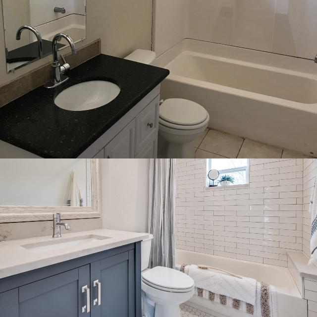 JoJo Fletcher bathroom before and after
