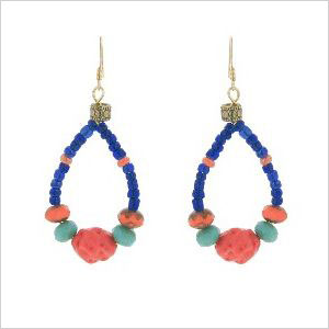 Bold beaded earrings