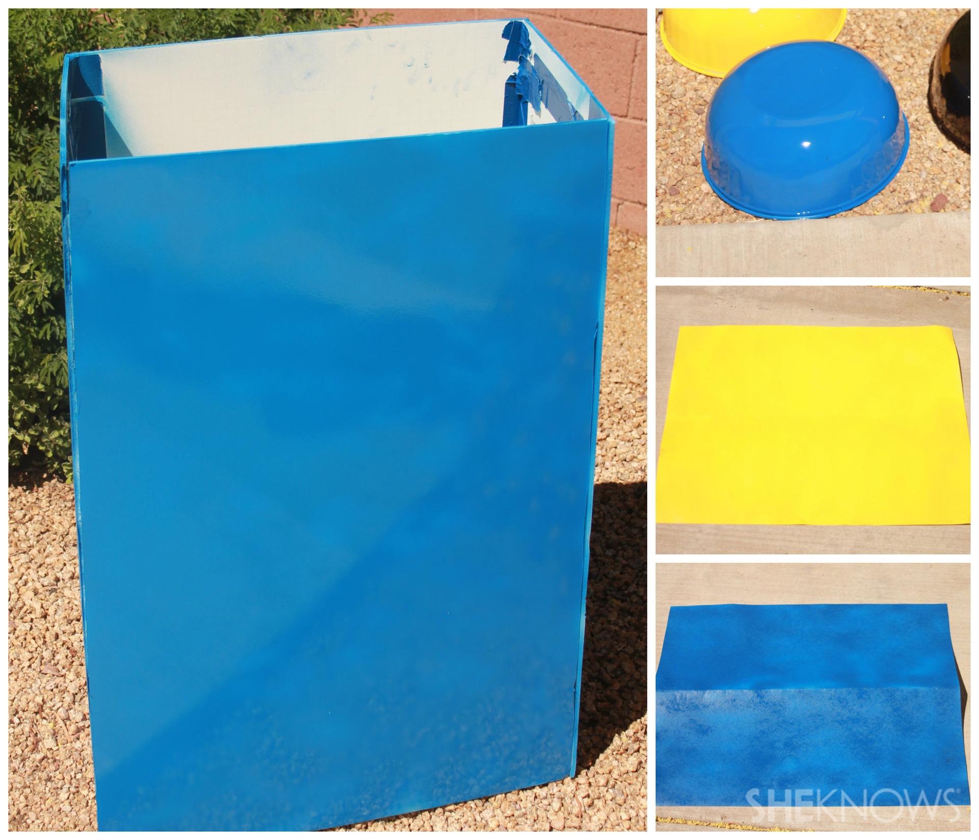 Step 1:Spray paint