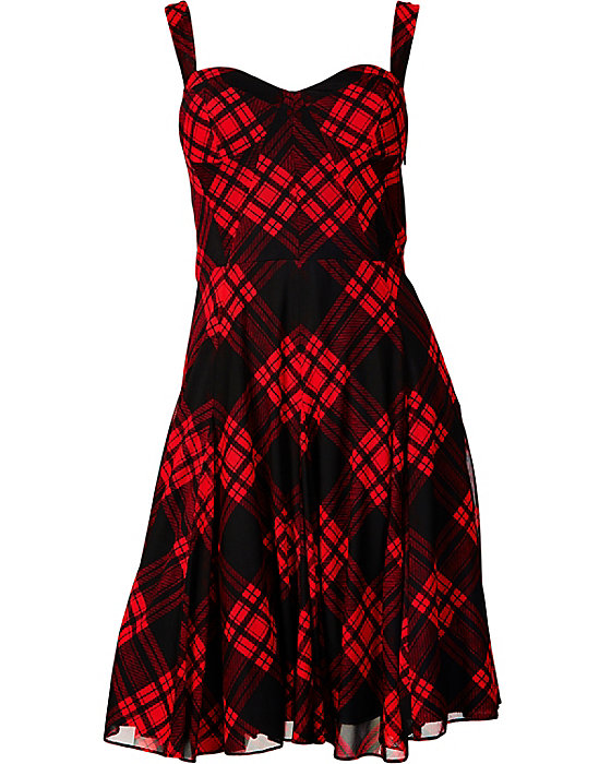 Betsey Johnson Sweetheart Plaid Dress