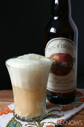 Boozy hard apple cider float