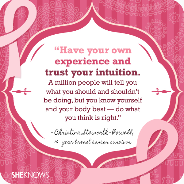 Breast cancer quotes from survivors themselves: Christina