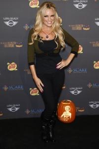 Bridget Marquardt celebrating Halloween