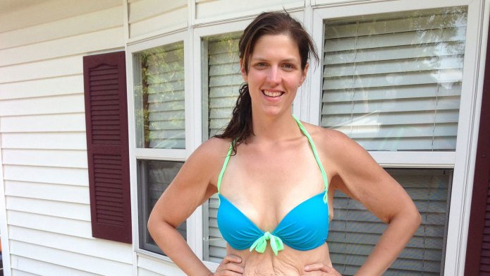 Woman's rejected weight-loss photo sparks body