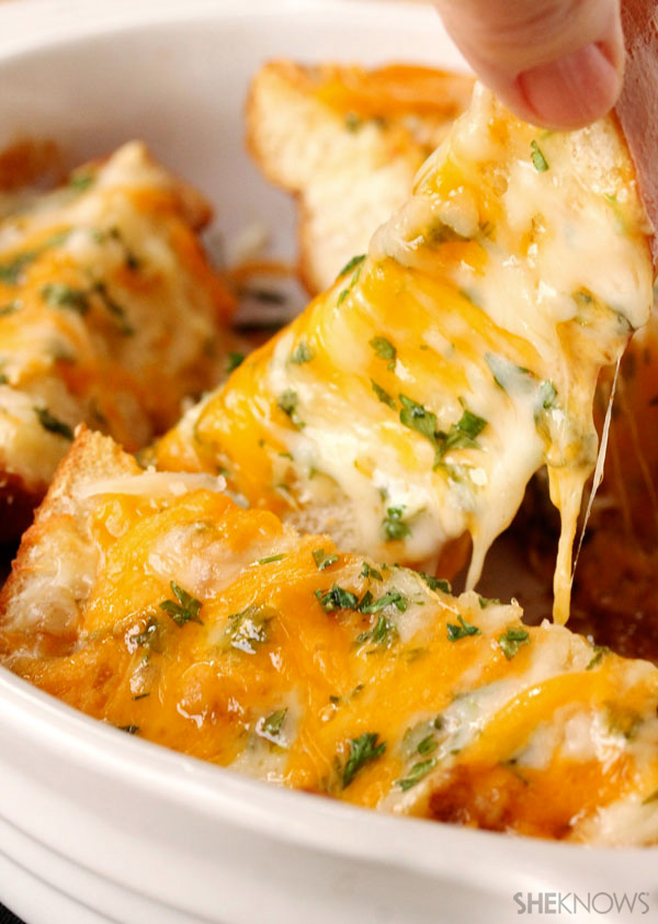 Brown butter and garlic cheese bread recipe