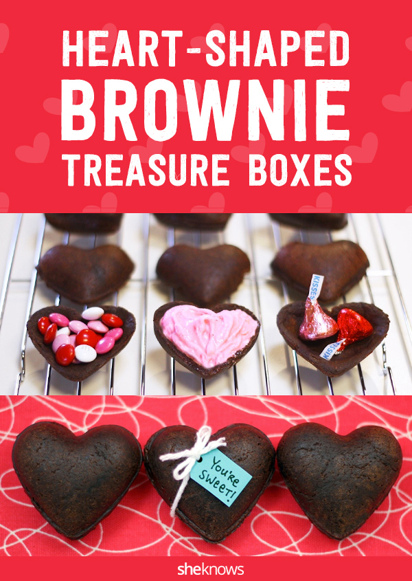 heart-shaped brownie boxes