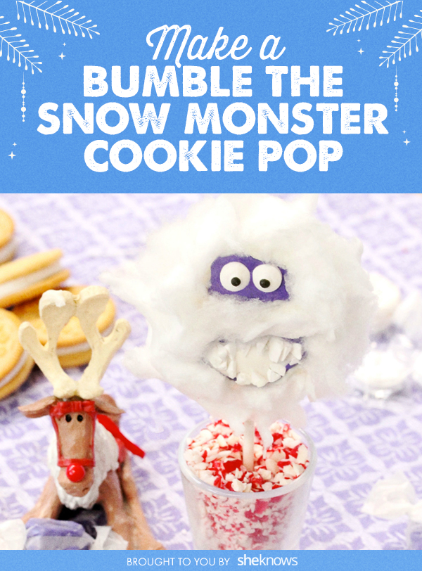bumble the snow monster cookie pop