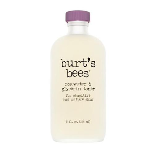 Salma Hayek Face Wash   Burt's Bees Rosewater and Glycerin Toner