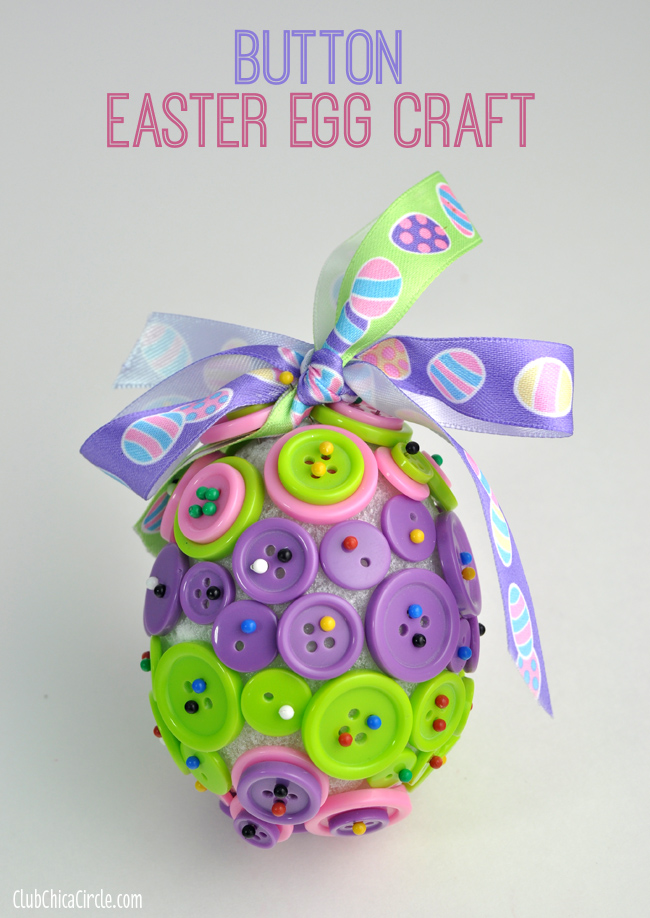 Button Easter egg ornament by Club Chica Circle