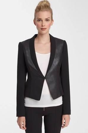 Catherine Malandrino Faux Leather Blazer