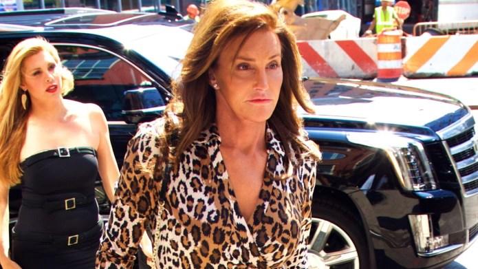 Caitlyn Jenner sports a leopard print